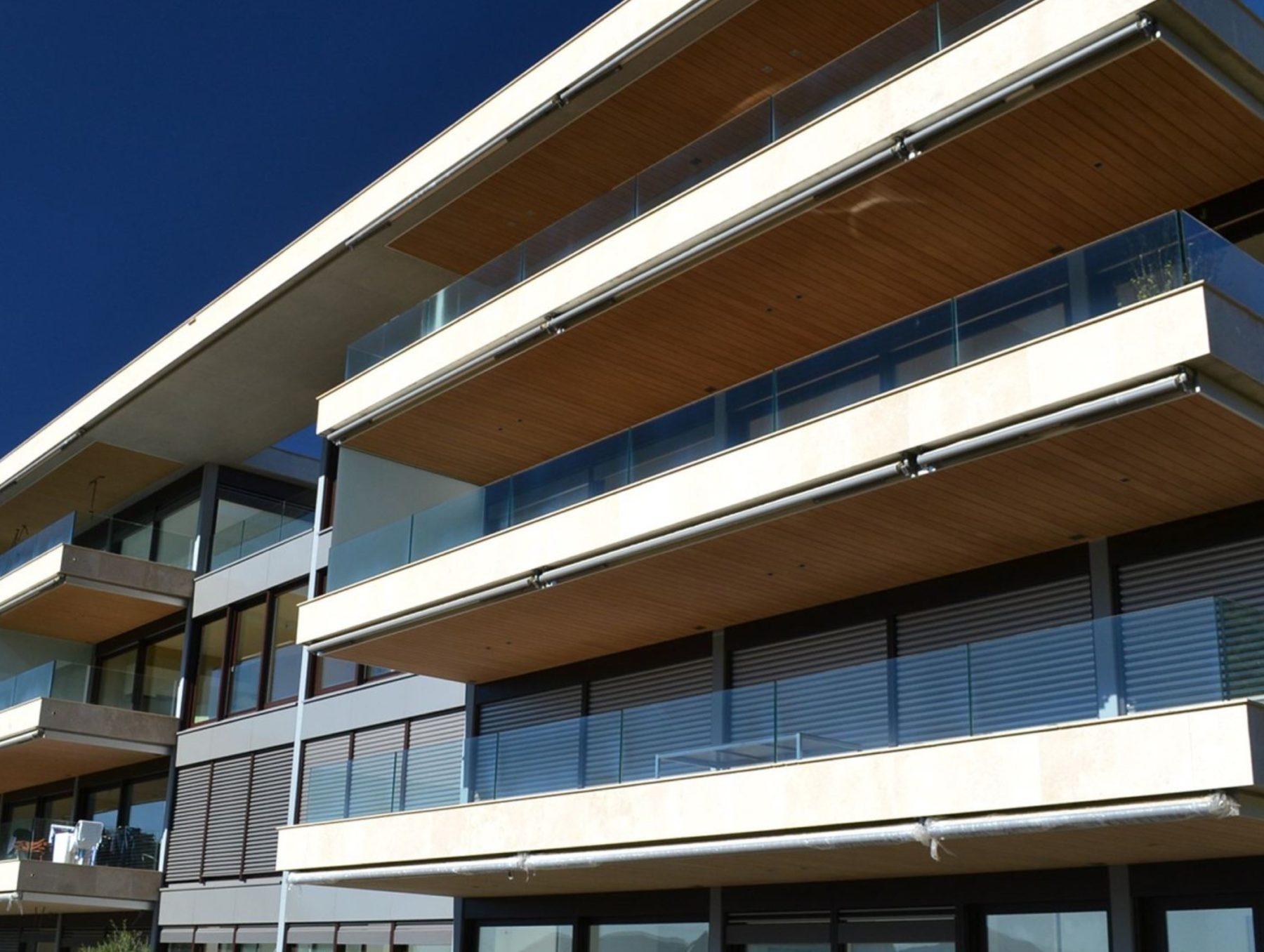 Controsoffitti esterni terrazze per residenza a Lugano